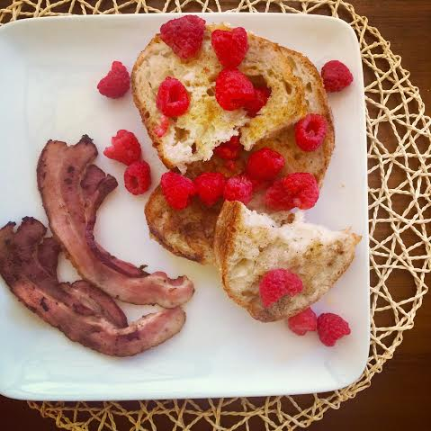 Vegan Eggnog French Toast. And Bacon...